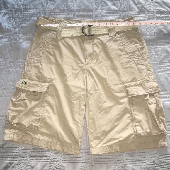 2341aac856 Lee Shorts | Dungarees Khaki Cargo Men Size 32 Euc | Poshmark